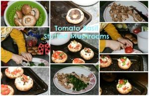 Stuffed Mushrooms Collage