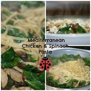 Mediterranean Chicken and Spinach Pasta1